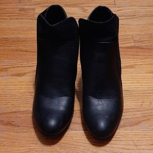 Maurices Shoes - Leather Suede Black Booties